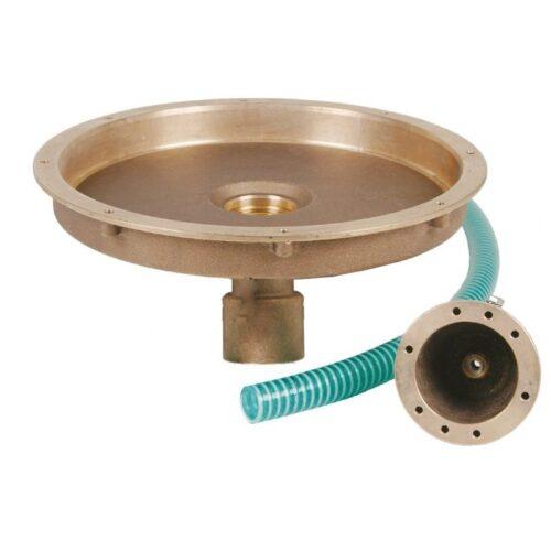 Комплект закладных донного гейзера Fitstar с вертикальным выходом ( закладной элемент гейзера, резьба 2″ + закладной элемент пневмокнопки со шлангом)