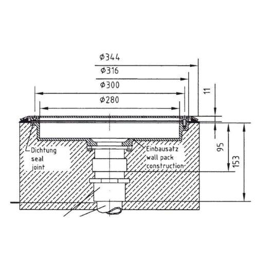Комплект закладных донного гейзера Fitstar с вертикальным выходом ( закладной элемент гейзера, резьба 2″ + закладной элемент пневмокнопки со шлангом) - изображение 2
