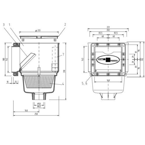 Лицевая панель скиммера V10 - изображение 2