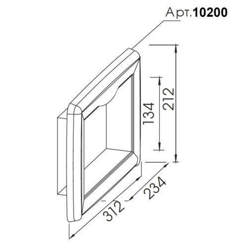 Лицевая панель скиммера V20, нерж.сталь - изображение 2