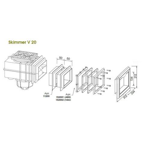 Лицевая панель скиммера V20 - изображение 3