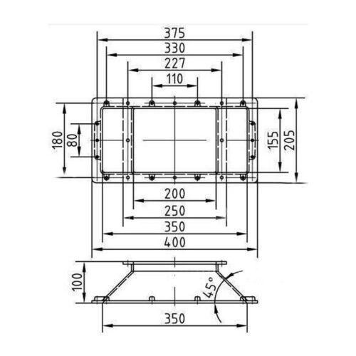 Горизонтальный удлиннитель 100 мм для скиммеров AllFit, с увеличением ширины забра воды 350 мм - изображение 2