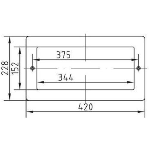 Лицевая панель для скиммеров AllFit с шириной забора 350 мм, нерж.сталь - изображение 2