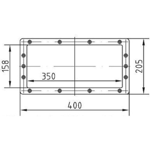 Фланцевый комплект для удлиннителя 1045050, под пленку - изображение 2