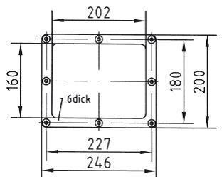Фланцевый комплект  + лицевая панель для скиммеров AllFit, под пленку - изображение 2