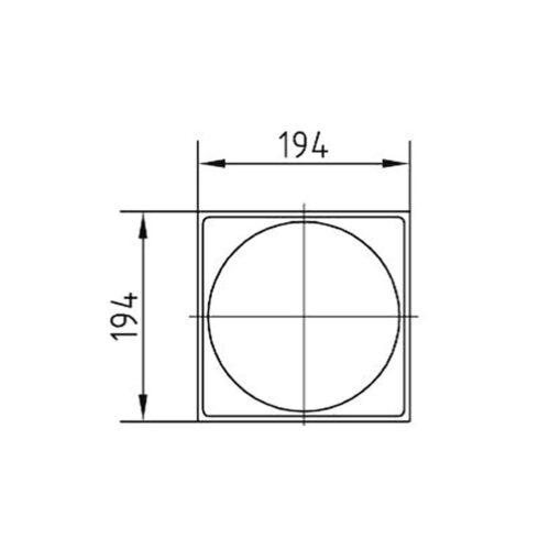 Верхняя рамка для скиммеров AllFit глубиной 240 мм, нерж.сталь - изображение 2