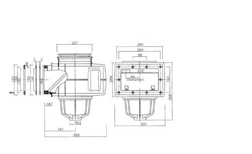 Скиммер MTS V20, 200 x 150 мм, под пленку - изображение 2