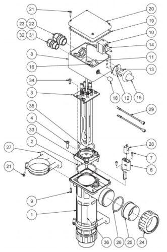 Гайка плюс адаптер электронагревателя Pahlen пластик - изображение 3