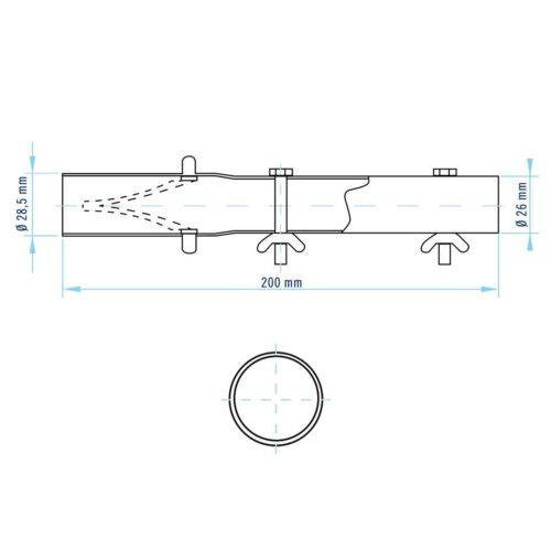 Адаптер для штанги 13м и щетки, Shark (Astral) - изображение 2