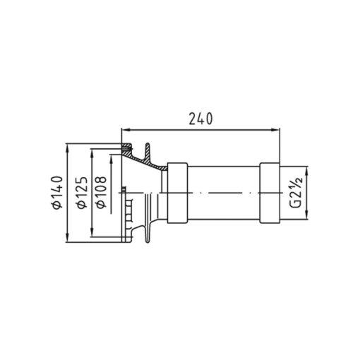 Закладной элемент заборного устройства FitStar Combi Whirl резьба 2,5″ под бетон - изображение 2