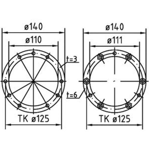Фланцевый комплект для всех закладных элементов FitStar Combi Whirl - изображение 2