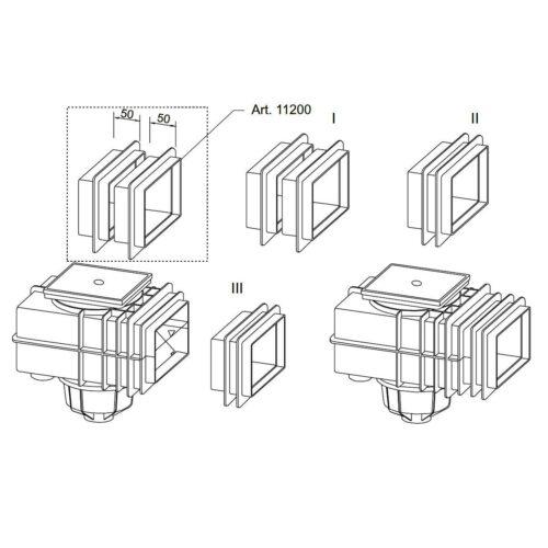 Горизонтальный удлинитель скиммера V20 - изображение 4