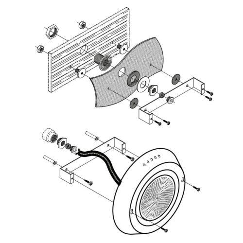 Набор крепежа для прожектора 150 Вт под бетон - изображение 2