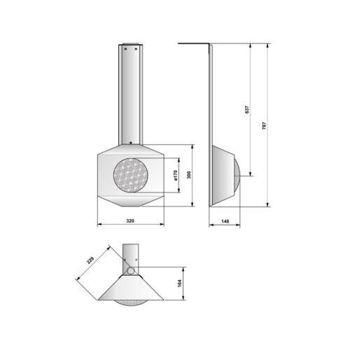 Угловой прожектор Pahlen 300 Вт, нерж.сталь - изображение 2