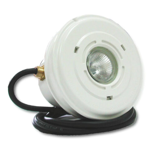 Светильник Mini пластик с нерж ободом+ ниша, 50 Вт, галоген