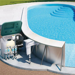 Металлический модульный быстросборный бассейн