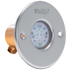 Подводный светодиодный прожектор, 4 цвета/4 диода, 24V/DC, 6000 K, 1890LM, дневной белый цвет, 5м кабеля 2х1,5мм2 Ø -110 мм.