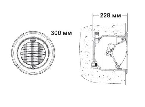 Светильник Adjustable 300 Вт пластик , с кабелем 2.5 м, регулировка наклона - изображение 2
