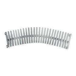 Решетка переливного лотка AQA радиусная нерж.сталь, высота 22 мм, ширина 150 / 195 / 245 / 295