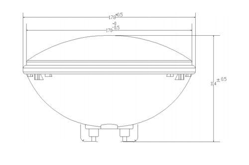 Лампа светодиодная белая VA PAR56 13.5 Вт / 12 В (1450 лмн) - изображение 2