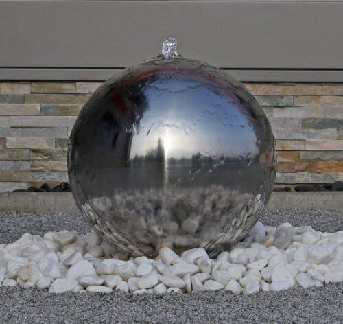 Фонтан шар из нержавеющей стали
