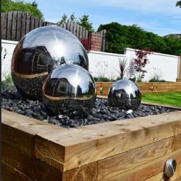 Фонтан шар из нержавеющей стали - изображение 6