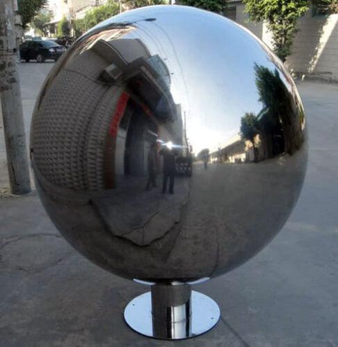 Фонтан шар из нержавеющей стали - изображение 4