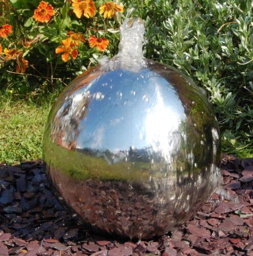 Фонтан шар из нержавеющей стали - изображение 5