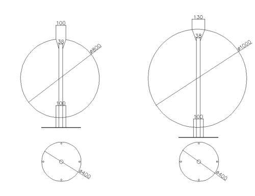 Фонтан шар из нержавеющей стали - изображение 3