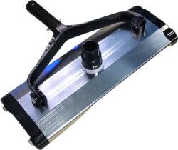 Щетка вакуумная алюминиевая прямоугольная с колесиками 14″